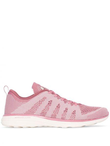 Розовые кроссовки для бега на шнуровке Apl
