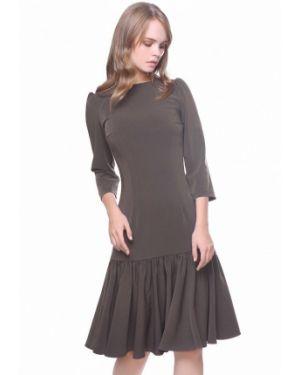 Вечернее платье весеннее бежевое Marichuell