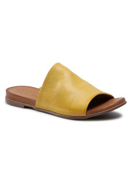 Żółte sandały Badura