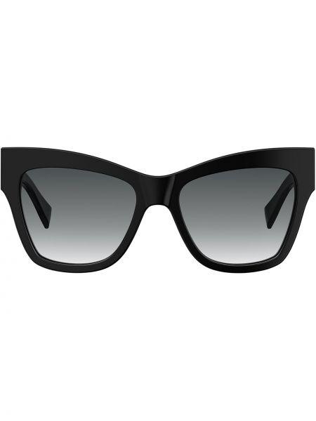 Домашние прямые черные солнцезащитные очки Moschino Eyewear