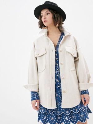 Бежевое пальто B.style