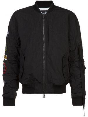 Czarna kurtka z nylonu Haculla
