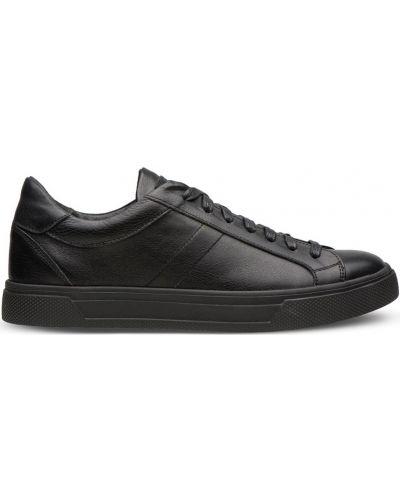Кеды на шнуровке - черные Shamrock