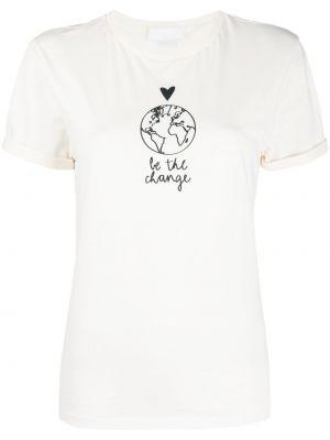 Хлопковая белая футболка с короткими рукавами Boss Hugo Boss