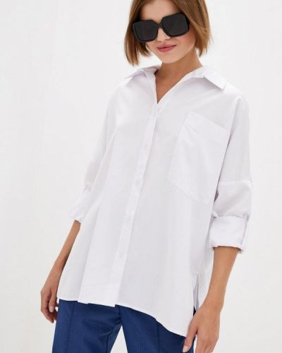 С рукавами белая блузка 7arrows