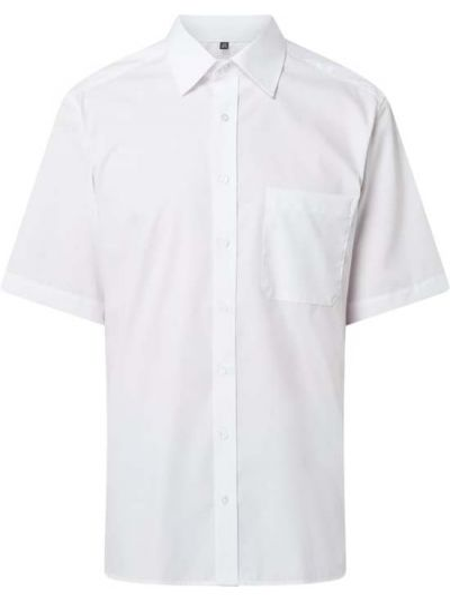 Biała koszula krótki rękaw Eterna