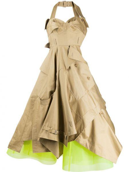 Платье с поясом с открытой спиной на пуговицах Junya Watanabe