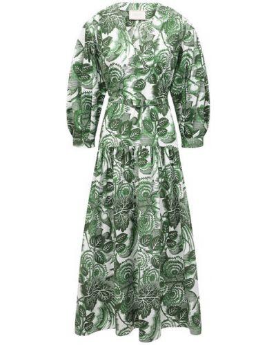Хлопковое платье - зеленое Tak.ori