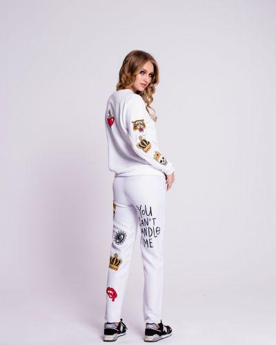 Прямые брюки с поясом с воротником Naoko