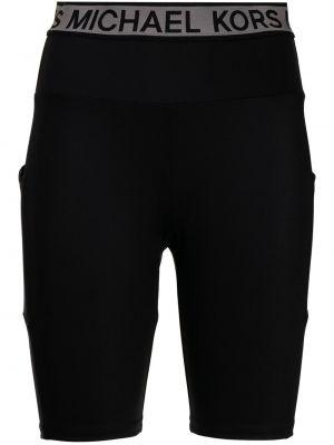 Шорты с карманами - черные Michael Michael Kors