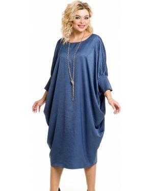 Платье миди облегающее с V-образным вырезом Novita