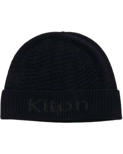 Niebieska z kaszmiru czapka Kiton