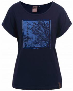 Футбольная синяя свободная спортивная футболка со стразами Icepeak