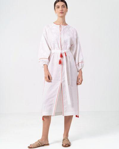 Этническое белое платье Etnodim