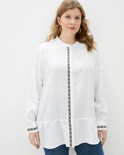 С рукавами белая блузка Silver String