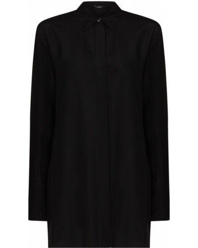 Шелковая черная классическая рубашка Joseph