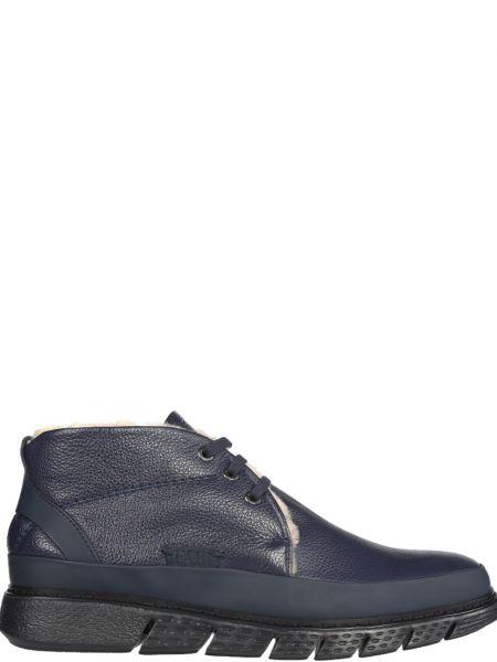 Кожаные ботинки - синие Fabi