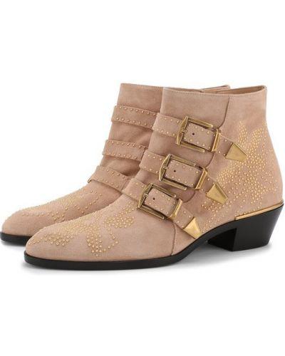 Ботинки на молнии с заклепками Chloé