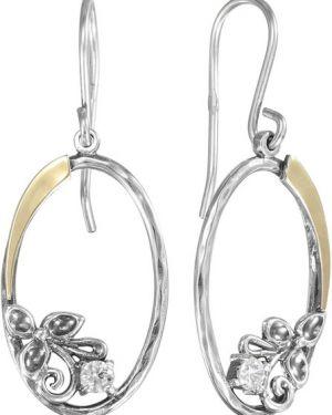 Серебряные серьги золотые золотой Den'o