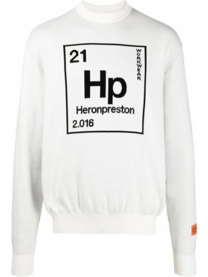 Prążkowana bluza długa z długimi rękawami bawełniana Heron Preston
