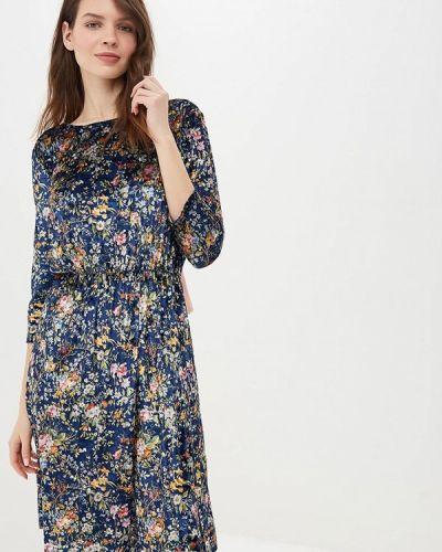 Платье осеннее синее Masha Mart