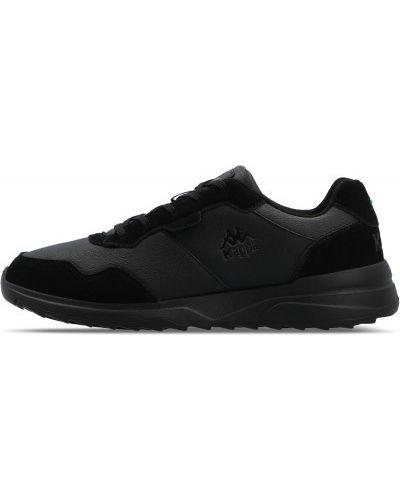 Черные кожаные кроссовки Kappa