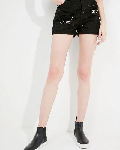 Черные джинсовые шорты Pinko