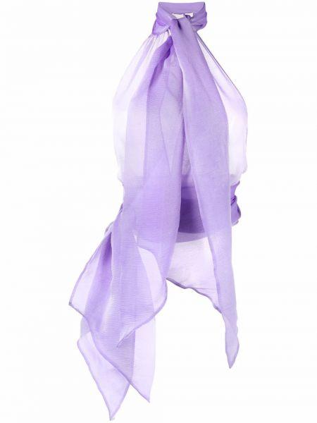 Bluzka z jedwabiu - fioletowa Alexandre Vauthier