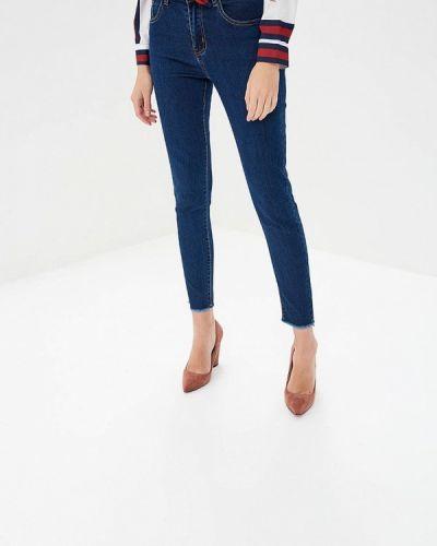 Синие джинсы-скинни Bruebeck