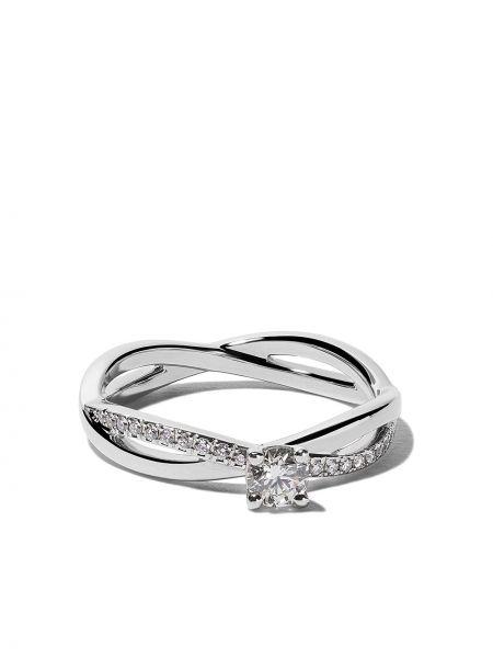 Кольцо с бриллиантом - белое De Beers
