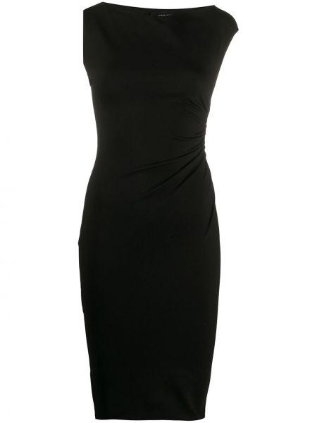 Прямое черное платье мини с вырезом Dsquared2