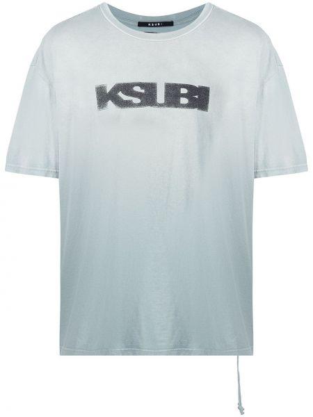 Niebieska T-shirt z nadrukiem z printem Ksubi