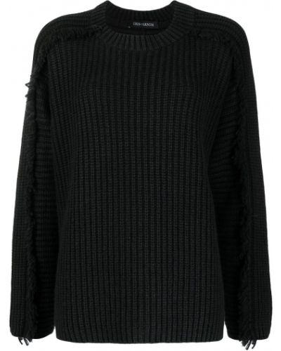 Кашемировый черный джемпер с вырезом Iris Von Arnim