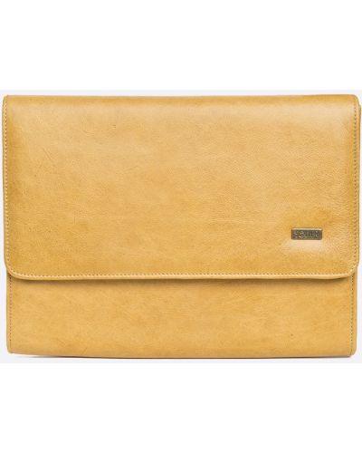 Кожаная сумка для ноутбука с отделениями Solier