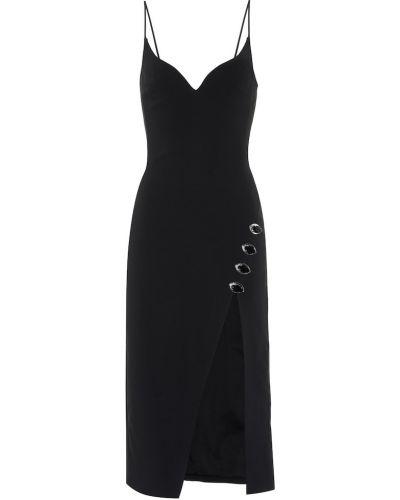 Платье миди черное David Koma