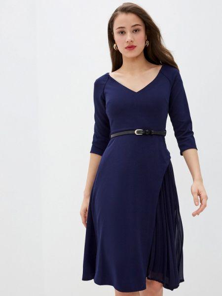 Платье прямое синее City Goddess