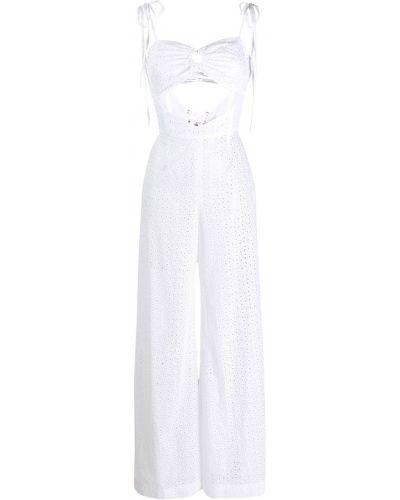 Белый комбинезон с вышивкой на бретелях Daizy Shely