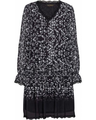 Шифоновое черное платье бохо Bonprix
