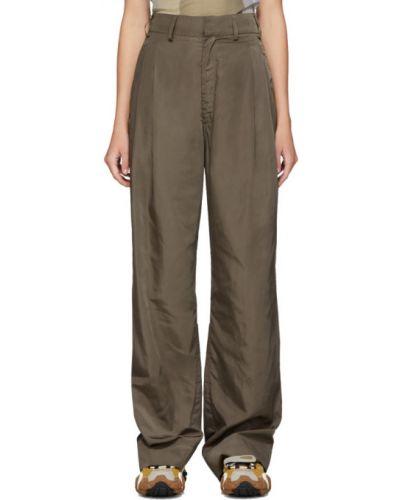 Brązowy spodni spodnie z kieszeniami bezpłatne cięcie Serapis