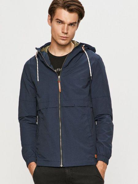 Хлопковая синяя куртка с капюшоном Jack & Jones