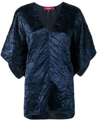 Блузка с широкими рукавами синяя Sies Marjan
