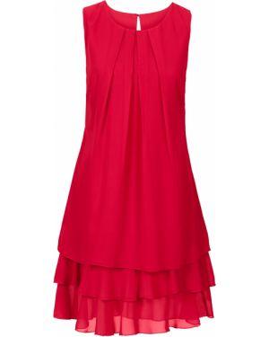 Платье мини со складками шифоновое Bonprix