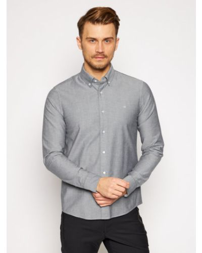 Szara koszula oxford Calvin Klein