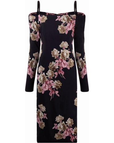 Платье с открытыми плечами - черное Blumarine