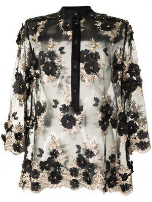 Блузка с вышивкой - черная Antonio Marras