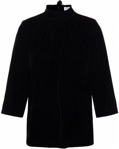 Czarna bluzka z aksamitu Claudie Pierlot