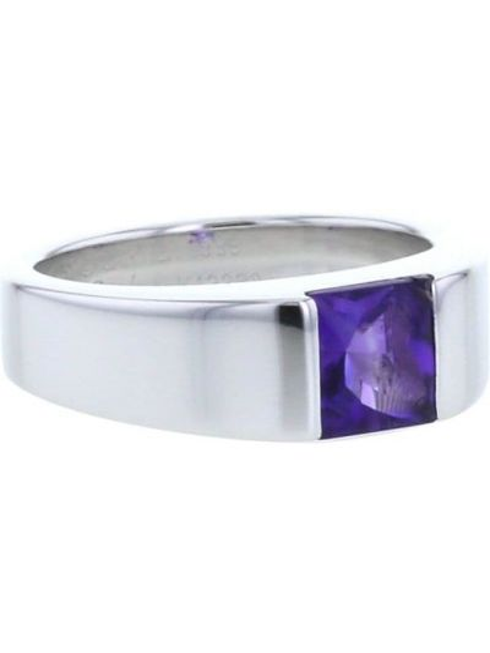 Кольцо с аметистом - белое Cartier