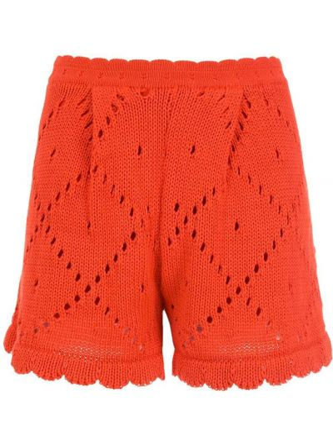 Оранжевые шорты с завышенной талией Nk