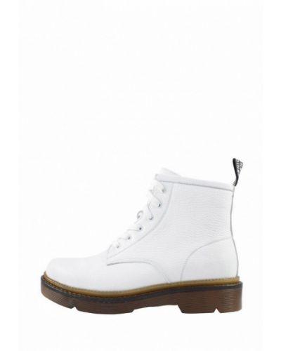 Белые пинетки из натуральной кожи на торжество Holiday Shoes