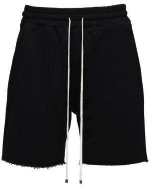 Czarne krótkie szorty bawełniane Flaneur Homme